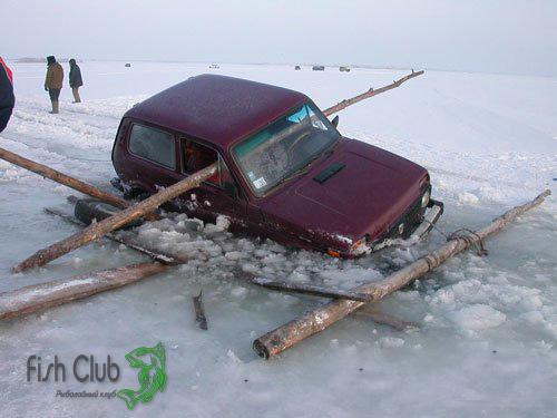 Движение на автомобиле по льду