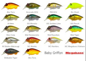 Воблеры для ловли голавля на спиннинг Baby Griffon и Griffon Zero фирмы Megabass