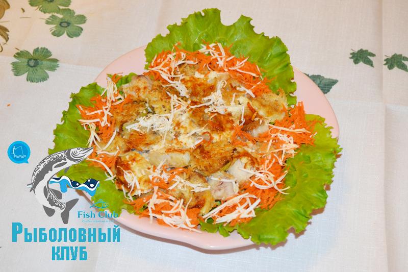 Рыба запеченная с кабачками в духовке